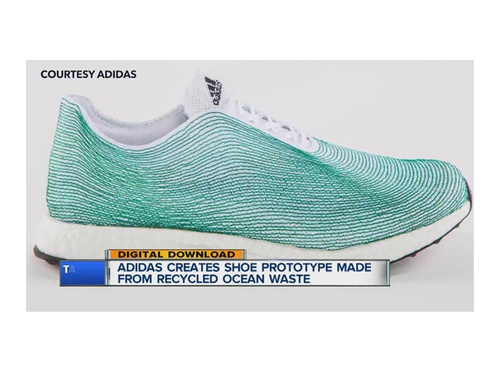 Circular Economy : Parley Adidas shoe